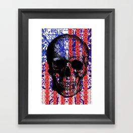 US Skull in a digital circuit. Framed Art Print