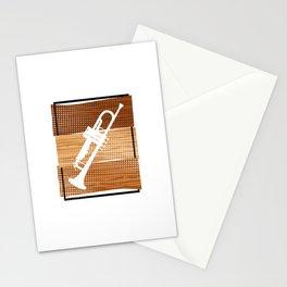 Trumpet  TShirt Music Instrument Shirt Musician Gift Idea Stationery Cards