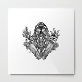 Frogman Metal Print