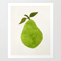 pear Art Prints featuring Pear by Field & Sky