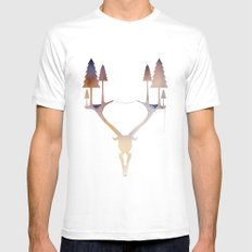 Antler Forest MEDIUM Mens Fitted Tee White