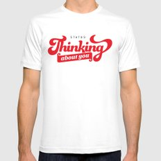 thinking about you Mens Fitted Tee White SMALL