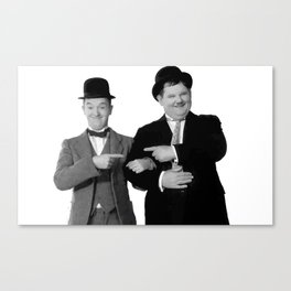 Mr Stan Laurel and Mr Oliver Hardy Canvas Print