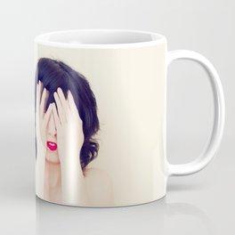 The Girl with the Red Lips Coffee Mug
