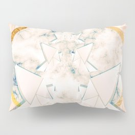 Paper doves on marble Pillow Sham