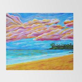 Pāʻia Bay Sunrise Throw Blanket