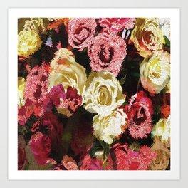 Fuzzy floral Art Print