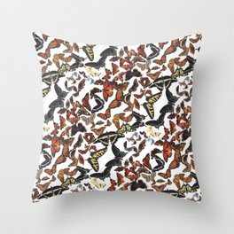 Butterflies of Maine Pattern Throw Pillow