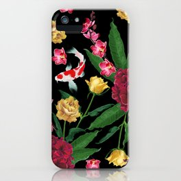 Black Tropical iPhone Case