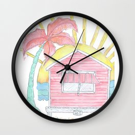 Beach Shack Vibes Wall Clock