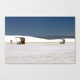 Picknick At White Sands Canvas Print