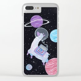 The astronaut llama Clear iPhone Case