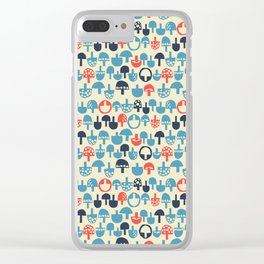 Mushroom Boom Clear iPhone Case