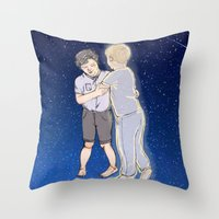 johnlock Throw Pillows featuring Dancing Kidlock by hislastbough