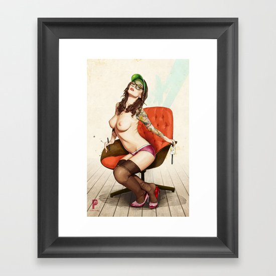 Self Portrait as a Lady No.2 Framed Art Print