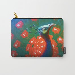 Social Media Peacock Carry-All Pouch