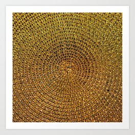 Golden Weft Art Print