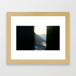 Across the bridge over the Ganges Framed Art Print