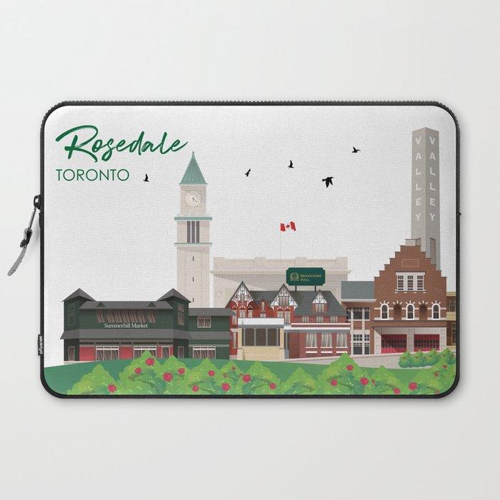 Rosedale - Toronto Neighbourhood Laptop Sleeve
