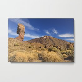 Rock formations in the Teide National Park on Tenerife Metal Print