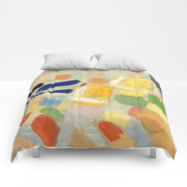 """Robert Delaunay """"Les coureurs (The runners)"""" Comforters"""