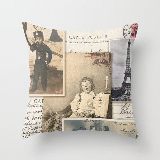 Postale Throw Pillow