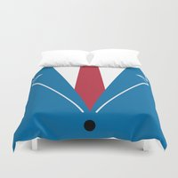 mad men Duvet Covers featuring Mad Men by Zhi-Yun