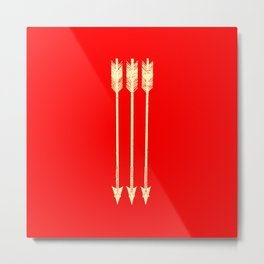 Arrows Yellow and Red Metal Print