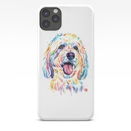 Goldendoodle, Golden Doodle - Dog Portrait Watercolor Painting iPhone Case