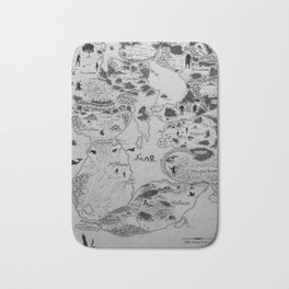 Map of the Nine Norse Worlds Bath Mat