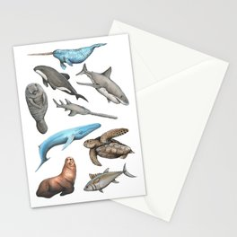 Endangered Sea Creatures Print Stationery Cards