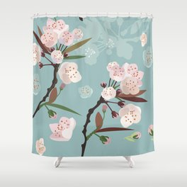 Cherry-Blossoms Shower Curtain