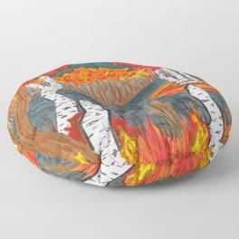Autumn Landscape Floor Pillow