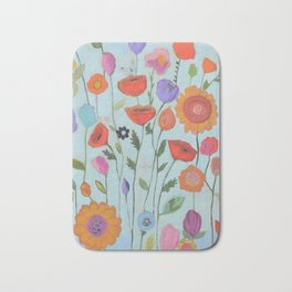 """Garden Whimsy"" Bath Mat"