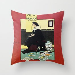 The New Woman, vintage Comedy Theatre london advert Throw Pillow