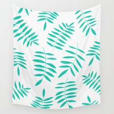 Green Leaves Wall Tapestry