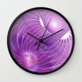 Protection, Abstract Fractal Art Wall Clock