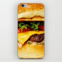 burger iPhone & iPod Skins featuring Burger by Jamie Danielle