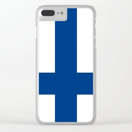 National flag of Finland Clear iPhone Case