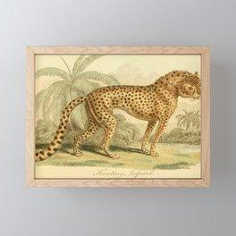Vintage Print - Bullock's London Museum & Pantherion (1812) - Hunting Leopard Framed Mini Art Print
