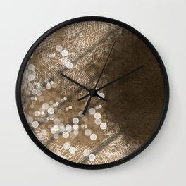 Brown Illusion Wall Clock