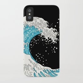 The Great Wave (night version) iPhone Case