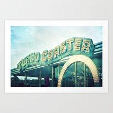 turbo coaster Art Print
