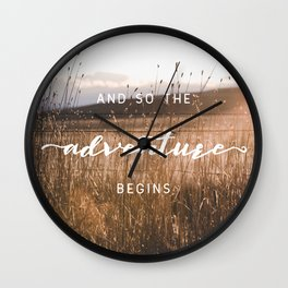 And So The Adventure Begins - Rustic Western Wall Clock