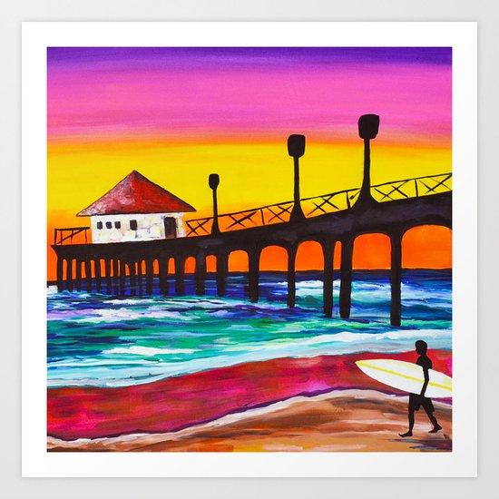 Pier Sunrise Art Print