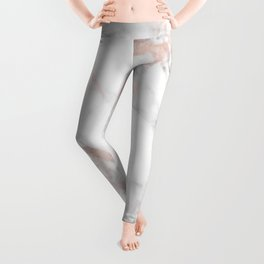 Luxury Rose-gold Faux Marble Leggings