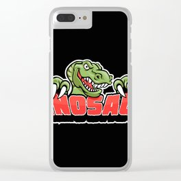dinosaur mascot. Clear iPhone Case