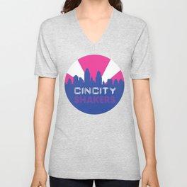 CinCity Shaker Circle Logo Unisex V-Neck