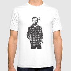 Lincoln Squared LARGE Mens Fitted Tee White