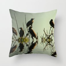 Starling Sunset Throw Pillow